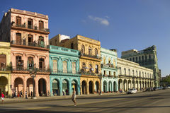 Paseo Marti w Hawańskim Kuba obrazy stock