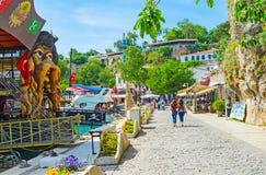 Paseo perezoso en el puerto deportivo de Antalya Foto de archivo libre de regalías