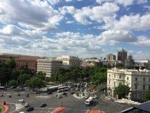 Paseo Recoletos, Мадрид, Испания Стоковое Изображение