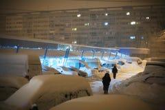 Paseo solo del invierno Fotografía de archivo libre de regalías