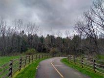 Paseo a través del parque Fotos de archivo libres de regalías