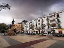 Paseo Vara de Rey in Ibiza Town Royalty Free Stock Image