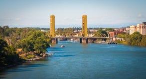 Paseos de Sacramento, tiros de California, los E.E.U.U. Imagen de archivo libre de regalías