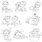 Pasgeboren stock illustratie