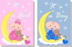 Pasgeboren baby stock illustratie