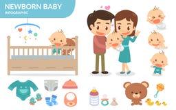 Pasgeboren baby vector illustratie