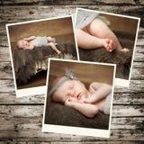 Pasgeboren babyfoto's stock foto