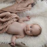 Pasgeboren babygirl Royalty-vrije Stock Foto's