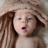 Pasgeboren babygirl Royalty-vrije Stock Fotografie