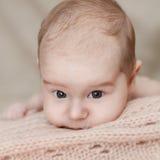 Pasgeboren babygirl Royalty-vrije Stock Foto