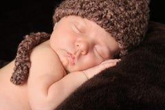 Pasgeboren babyjongen stock foto