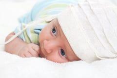 Pasgeboren babyjongen Royalty-vrije Stock Afbeelding