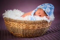 Pasgeboren babyjongen Royalty-vrije Stock Fotografie
