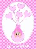 Pasgeboren babymeisje stock illustratie