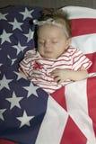 Pasgeboren babyslaap Royalty-vrije Stock Afbeeldingen