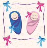 Pasgeboren babytweelingen Vector Illustratie