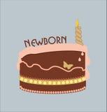 Pasgeboren cake Royalty-vrije Stock Afbeeldingen