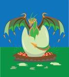 Pasgeboren draak. Royalty-vrije Stock Afbeeldingen