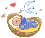 Pasgeboren jongen Stock Foto