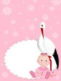 Pasgeboren meisje Royalty-vrije Stock Afbeelding
