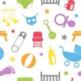 Pasgeboren Naadloos Patroon stock illustratie