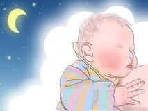 Pasgeboren slaap stock illustratie