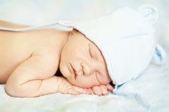 Pasgeboren slapen Royalty-vrije Stock Fotografie
