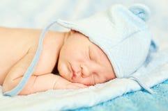 Pasgeboren slapen Stock Fotografie