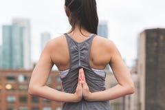 Pashchima Namaskarasana Yoga Pose stock photography