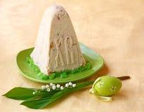 Pashka - sobremesa do quark para easter e ovo da páscoa Fotos de Stock Royalty Free
