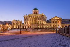 Pashkov House in the morning stock photography