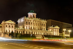 The Pashkov house in Moscow. Night view Royalty Free Stock Photography