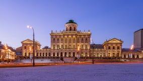 Pashkov hus i morgonen Arkivfoto