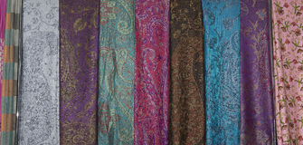 Pashmina scarves Stock Images