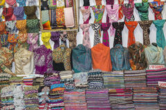 Pashmina scarves grand Bazaar Istanbul Royalty Free Stock Image
