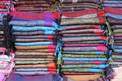 Pashmina scarves Royalty Free Stock Photos