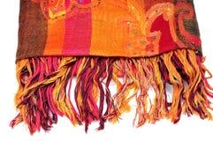 Pashmina shawl. Isolated on white background Stock Photos