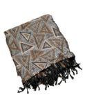 Pashmina shawl. Isolated on white background Stock Photography