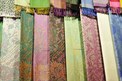 Pashmina and silk  scarfs Royalty Free Stock Image