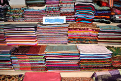 Pashmina and silk  scarfs Stock Image