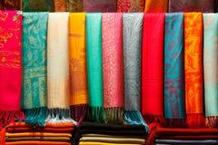 Pashminas de la cachemira Fotos de archivo libres de regalías