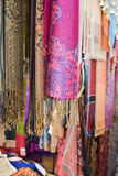 Pashminas And Fabrics For Sale Royalty Free Stock Photos