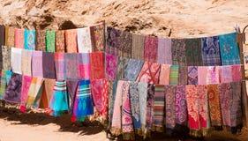 Pashminasjaals bij Petra royalty-vrije stock foto