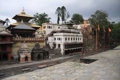 Pashupatinath寺庙 免版税库存照片