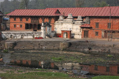 Pashupatinath and Bagmati river Stock Photo
