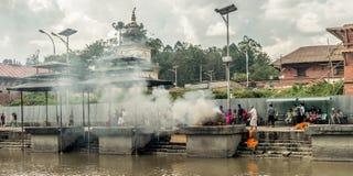 Pashupatinath CATMANDU nepal fotografia de stock