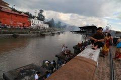 Pashupatinath em kathmandu, nepal Foto de Stock