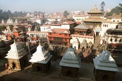 Pashupatinath - hinduisk tempel Royaltyfri Fotografi