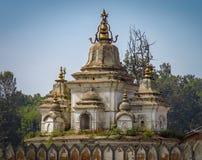 Pashupatinath Hinduskiej świątyni kompleks, Kathmandu, Nepal obrazy stock