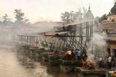 Pashupatinath a Kathmandu, Nepal Fotografie Stock